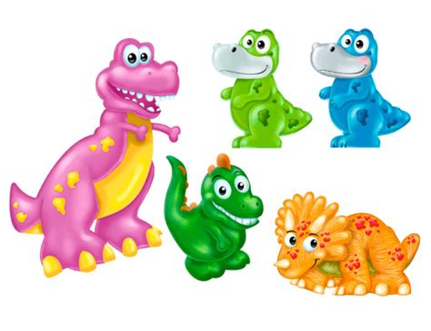 Free cartoon dino vector download in ai, svg, eps and cdr. Dino Cartoon toys by richard peter david | ArtWanted.com