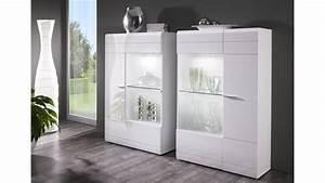 Wohnzimmer Vitrine Weiß : vitrine carero 2er set front wei mdf hochglanz ~ Markanthonyermac.com Haus und Dekorationen