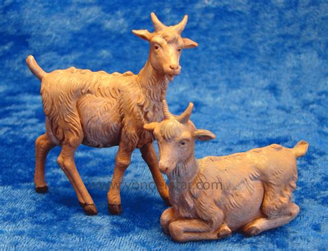goat set of 2 5 quot fontanini nativity animals 54030