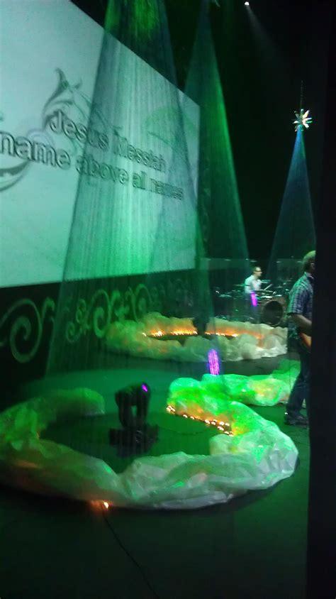 throwback flourished  glistening church stage design