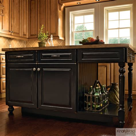 kraftmaid kitchen island kraftmaid kitchen island in vintage onyx transitional kitchen islands and kitchen carts