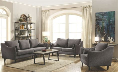 Grey Living Room Sets by Rhys Grey Living Room Set From Coaster Coleman