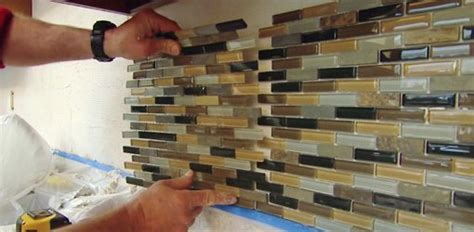 How To Install A Mosaic Tile Backsplash In The Kitchen how to install a mosaic tile backsplash today s homeowner