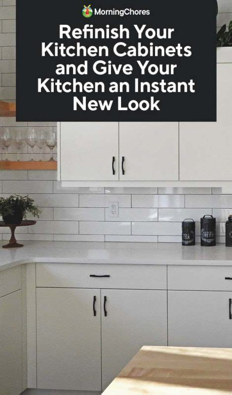 How To Refinish Your Kitchen Cabinets And Give It An