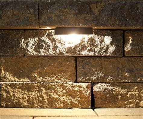 led retaining wall light led step light nox lighting