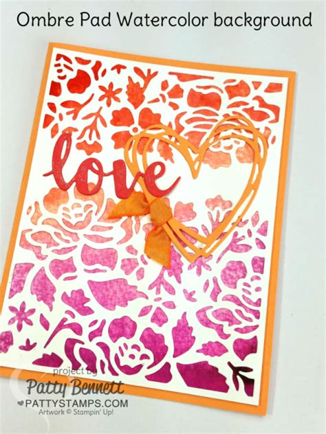 ombre ink pads  stampin  video tutorial