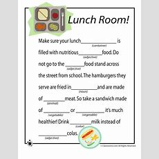 Mad Lib Worksheets  Lunch Time  Woo! Jr Kids Activities