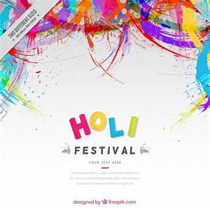 Colors abstract Holi festival background Vector | Free ...