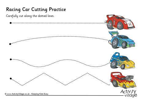 racing car cutting practice
