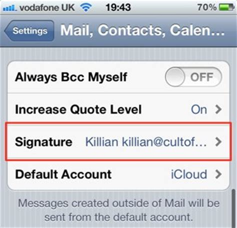 iphone text signature customize your mail signature on your iphone ipod touch