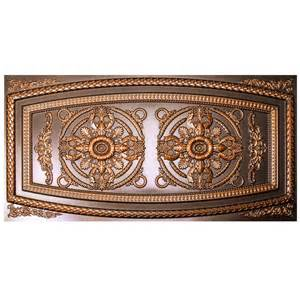 udecor riga 2 ft x 4 ft antique copper lay in or glue up