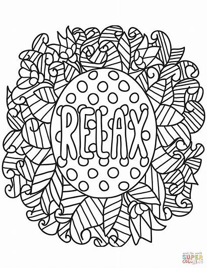 Coloring Pages Relax Printable Adults Sheets Books