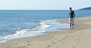 Man Walking Alone On The Beach Stock Footage Video 3056263 ...