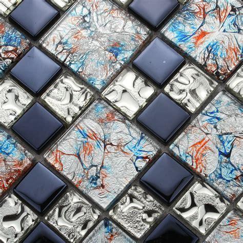 Glass Mosaic Tiles melted Crack Crystal Backsplash Tile