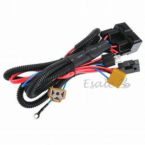 H4  9003 Ceramic Fused Socket Relay Wiring Harness