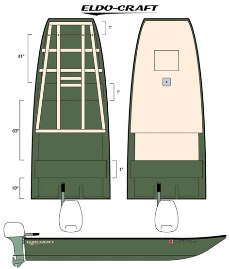 jon boat deck plans boat