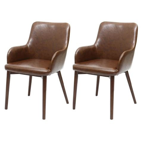 sidcup vintage brown leather dining chairs  delivery