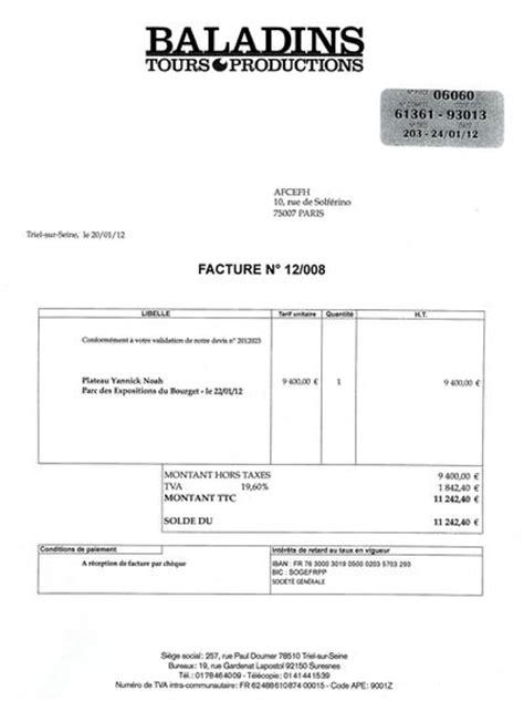 modele contrat pour prestation musicale photo modele facture prestation de service