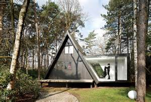 modern a frame house plans a frame summer cabin gets glass addition modern house designs