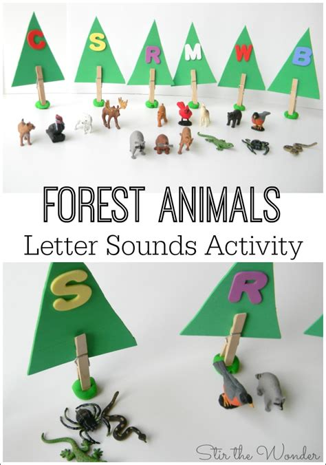 forest animals letter sounds activity stir the 595 | Forest Animals