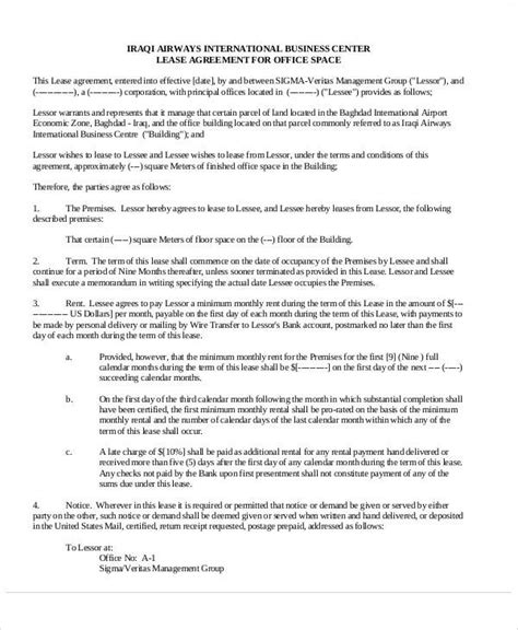 Office Space Rental Agreement by 49 Lease Agreements In Pdf