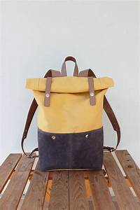 Retro Rucksack Selber Nähen : canvas rucksack rollen oben mit beigem leder details von phestyn n hen pinterest ~ Orissabook.com Haus und Dekorationen