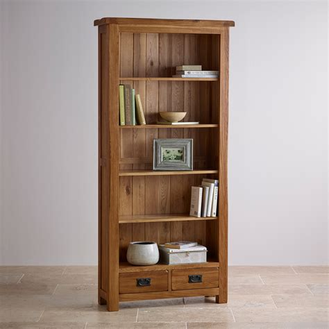 Original Rustic Solid Oak Large Bookcase  Home Office