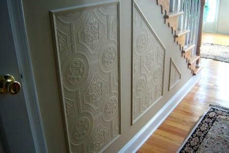 remodelaholic faux carved wainscoting  paintable