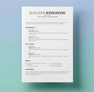 Resume templates for word free 15 examples for download for Free resume layouts microsoft word