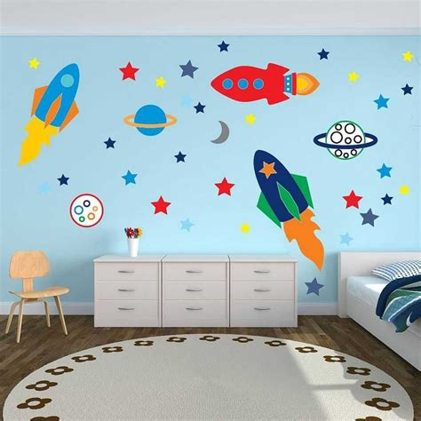 Toddler Boy Bedroom Wall Decals Pictures For Kids Includi