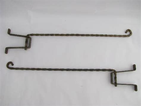 vintage forged wrought iron shutter curtain rods w
