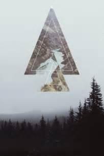 Mountains Geometric Triangle Design