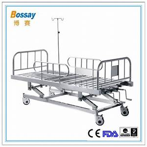 China Hospital Furniture Type Three Crank Stainless Steel