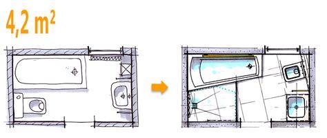 Kleines Bad 4 Qm Grundriss by Badplanung Beispiel 4 2 Qm Komplettbad Auf Kleinstem Raum