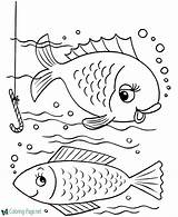 Coloring Fish Pages Hook sketch template