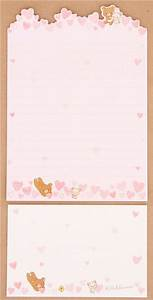 pink die cute rilakkuma bear hearts letter paper set With kawaii stationery letter set