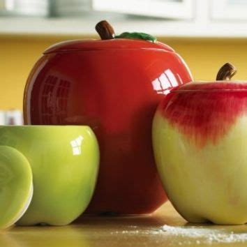 Apple Kitchen Canisters by Apple Decor Kitchen Canisters From Okanjo