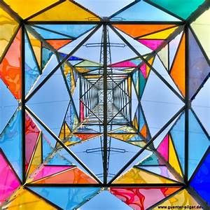 Electrical towers get a stained glass makeover by art for Stained glass electrical tower
