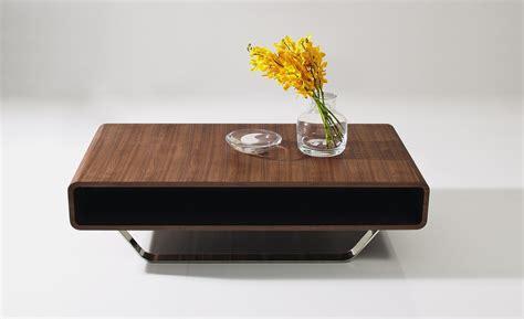 Contemporary Walnut and Chrome Coffee Table Los Angeles California J&M 136