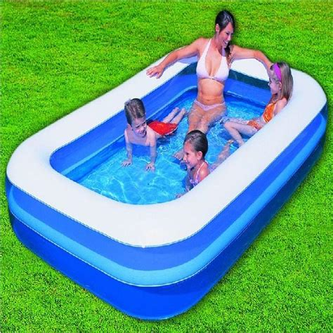 bestway pool ft fast set clear blue inflatable ring