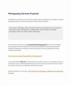Bid Letter Template 14 Photography Proposal Examples Pdf Doc Psd Ai