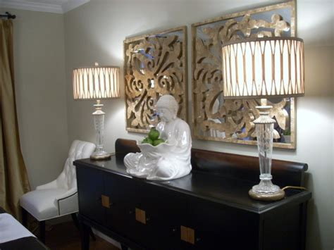 gold capiz mirrors asian dining room benjamin moore