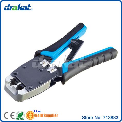 crimping utp talon network and telephone cable end sleeve crimping tool for