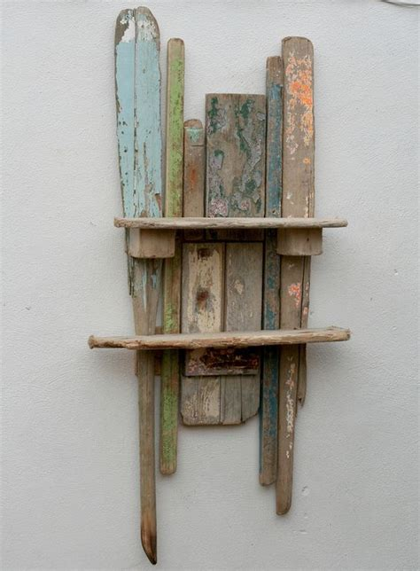 Shelving Projects by Wall Mounted Shelf Driftwood Shelf And Sculptures On