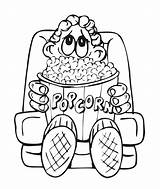 Popcorn Coloring Pages Sheet Drawing Box Clipart Boy Printable Colouring Kernel Clip Template Library Az Snacks Books Getdrawings Bag Fun sketch template