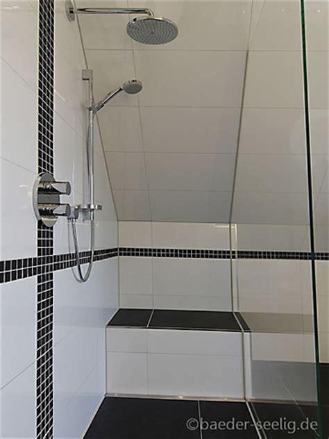 dusche unter dachschräge geflieste dusche im dachgeschoss b 196 der seelig