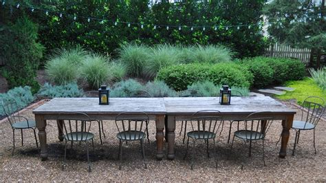 outdoor table legs patio rustic with chair fence gravel
