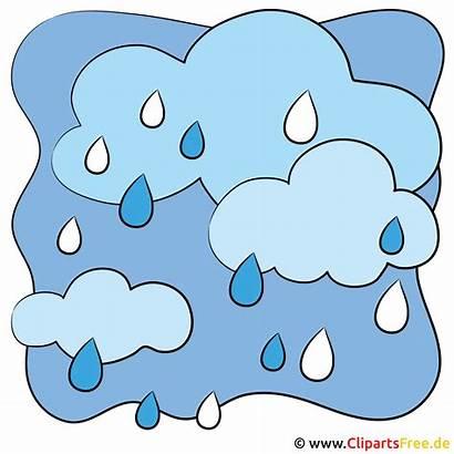 Clipart Pluie Regenwolken Bild Wetter Nuvole Pioggia