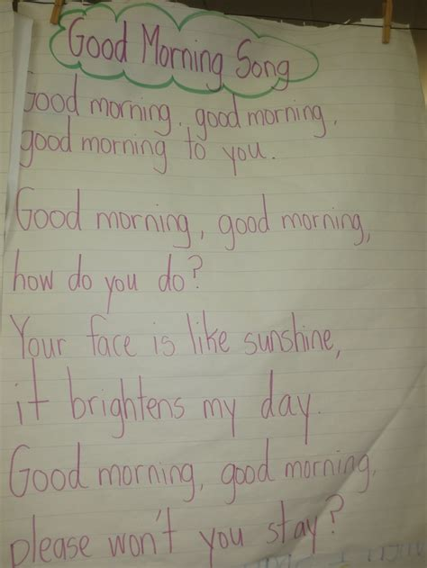25 best ideas about morning song on 245 | a39ac547a1de369368a9ab3700318e83 good morning song kindergarten poems