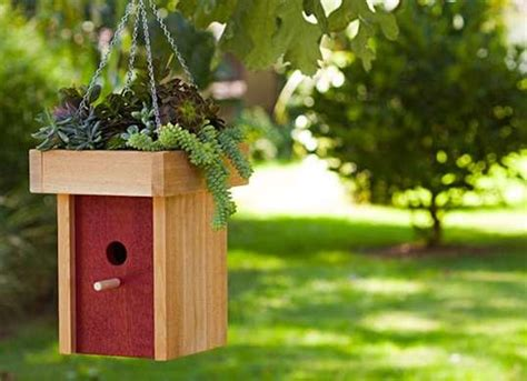 diy bird feeder  planter scrap wood projects  easy